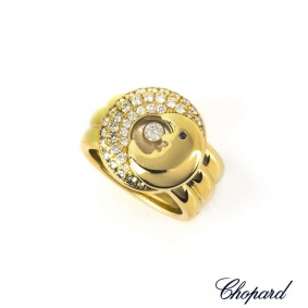 Chopard  18k Yellow Gold Happy Diamonds Moon Ring 82/2288/3-20